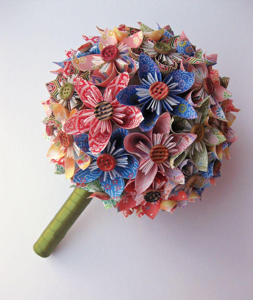 Various Colors Kusudama Paper Bouquet