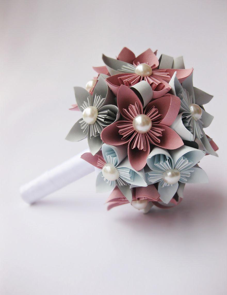 Kusudama Paper Bouquet