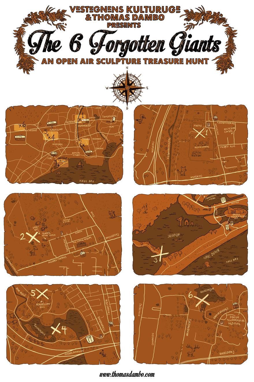 I Hide Giants That I Make From Wood In The Wilderness Of Copenhagen