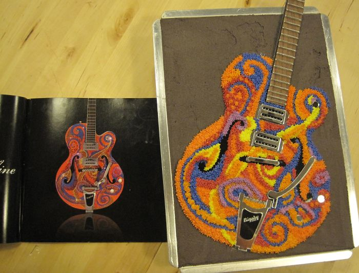 My Cake Replica Of One Of An Artist Friend's Swarovski Crystal Encrusted Guitars