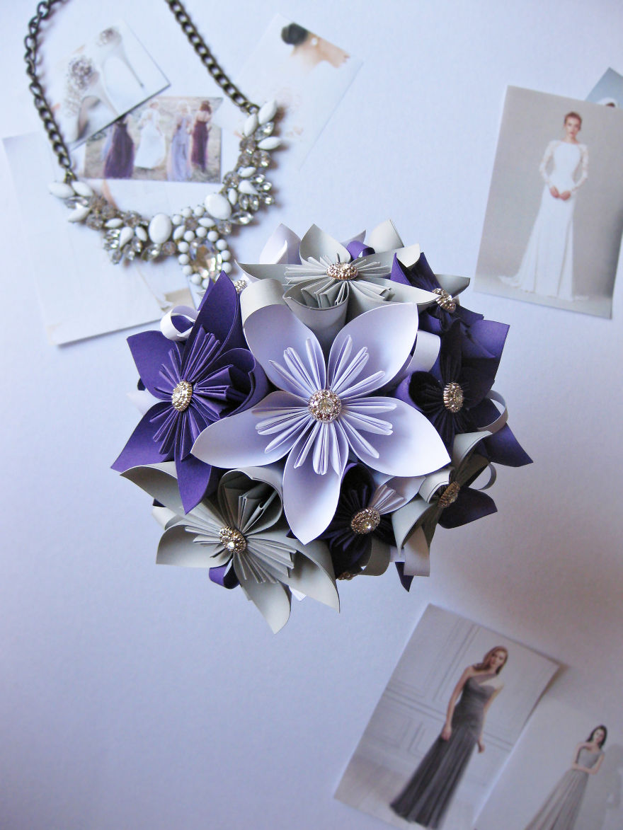 Purple, White And Grey - Very Solid Bouquet