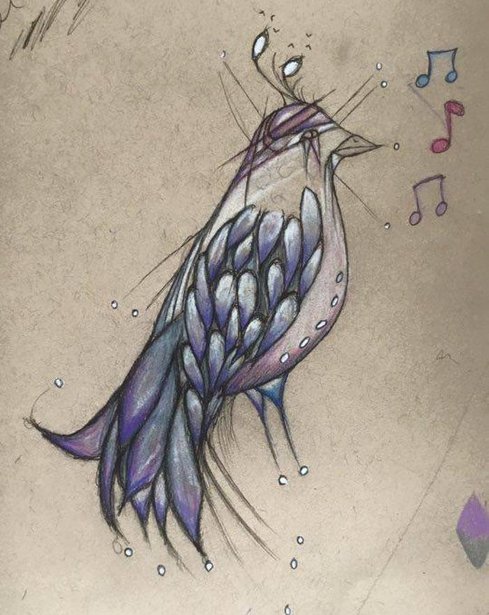 Ini Birdie. Dia selalu menyanyi untuk saya.
