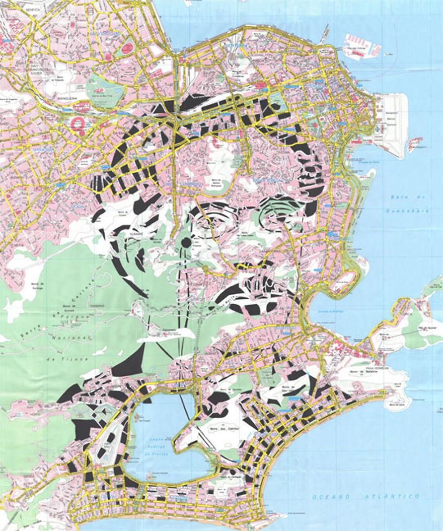 Machado De Assis / Rio De Janeiro / Paper Cut Map