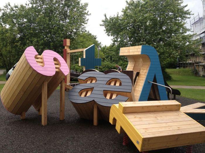 Parque infantil alfabético