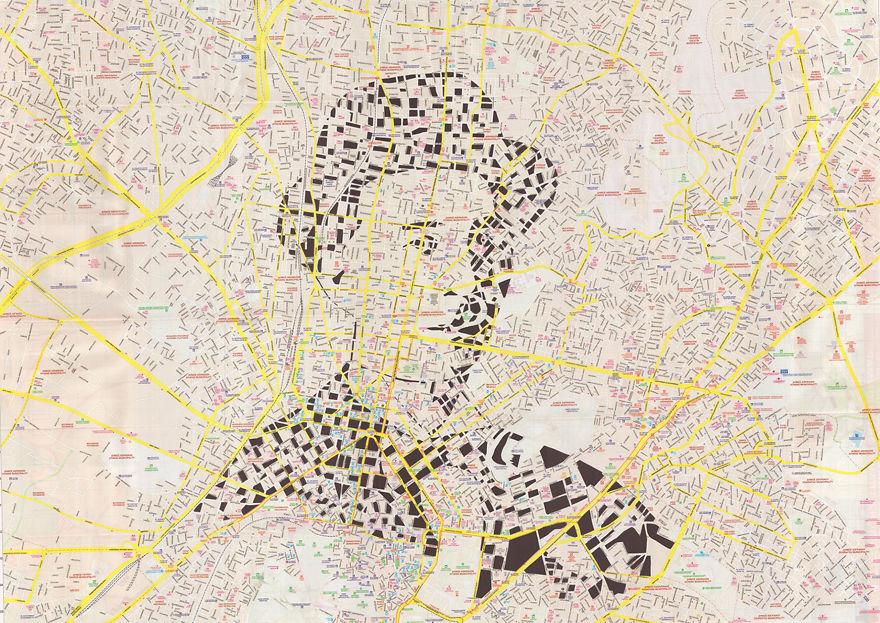 Napoleon Lapathiotis / Athens, Greece / Paper Cut Map