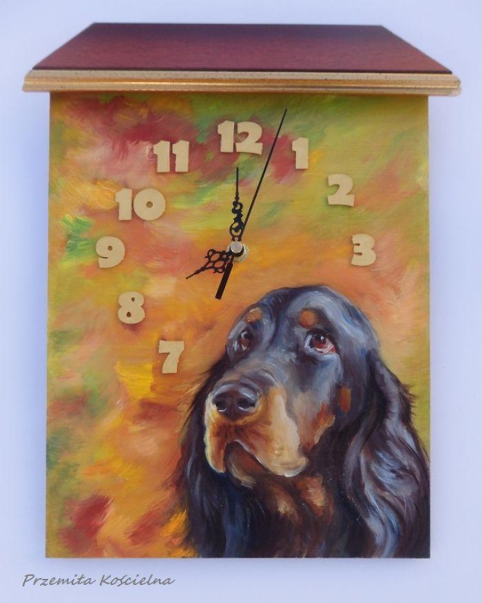 Automn Clock (Gordon Setter)