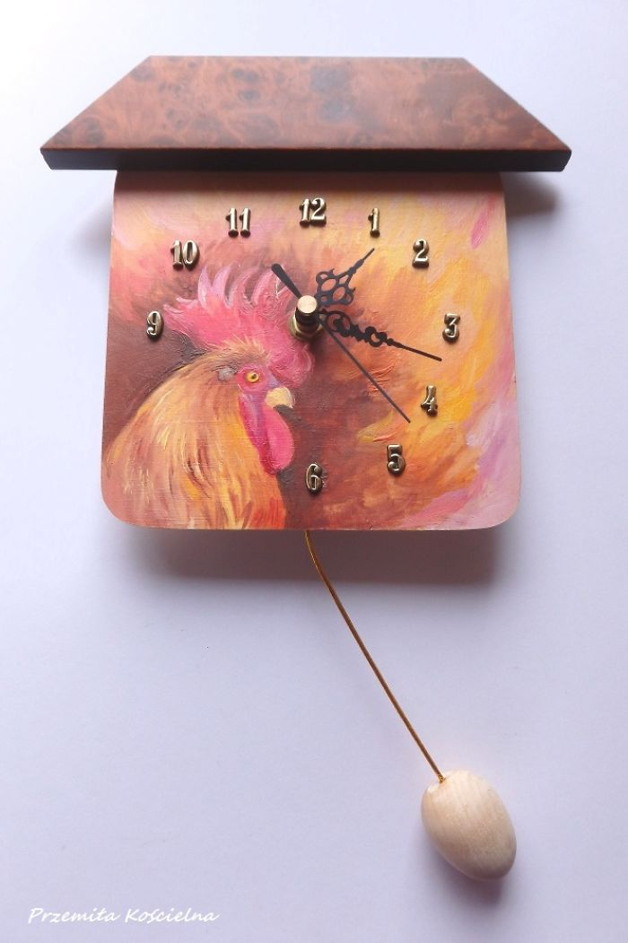 Clock With Egg