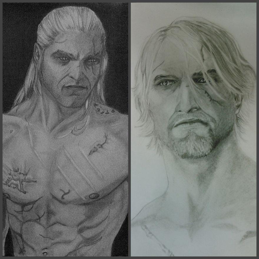 Geralt 2014 Vs 2015 By Frost Dewinter