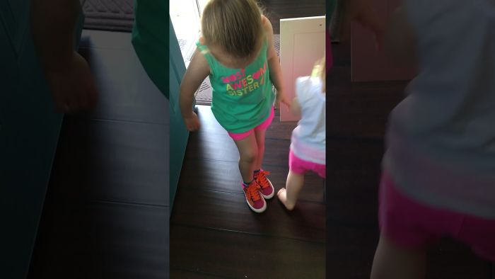 My Daughter Wanted Me To Record A Video Of Her But Her Twin Brother And Sister Had Other Plans