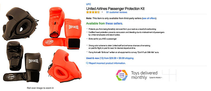 United Airlines Passenger Protection Kit – A Must Have.