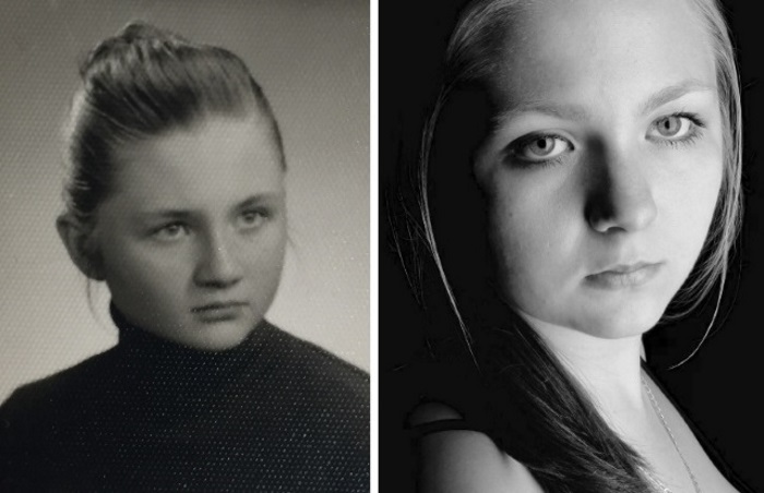 My Mother On The Left, Age 17. Me On The Right, Age 19.