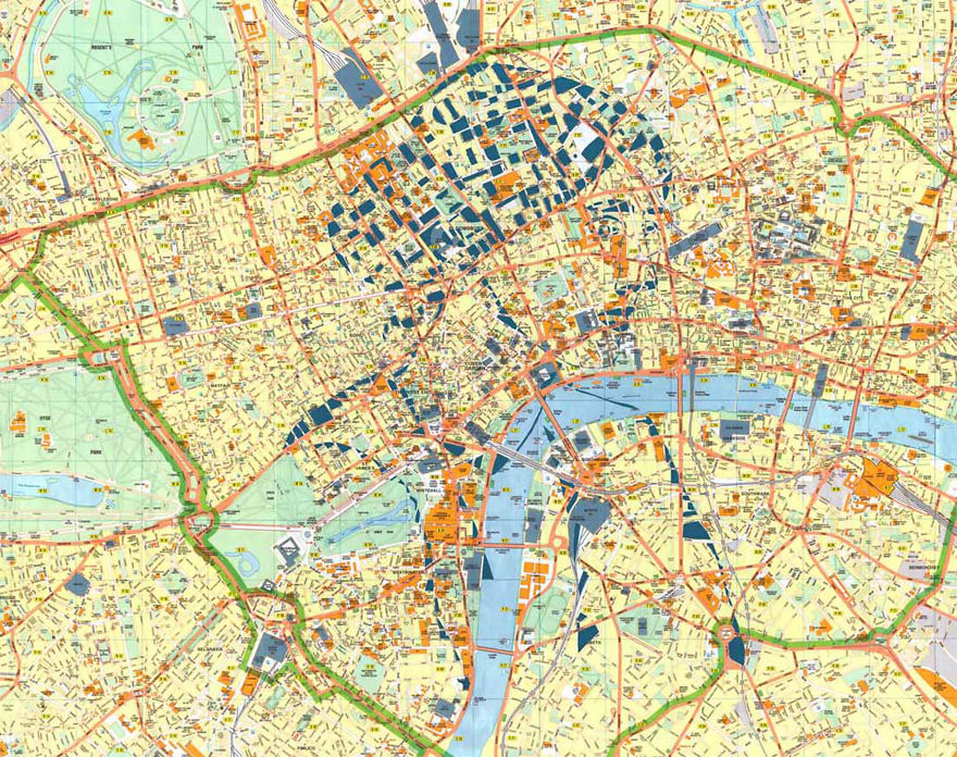 Virginia Woolf / London / Paper Cut Map