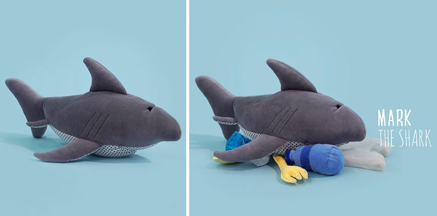 Sad Stuffed Animals That We Made To Educate Kids About Ocean Pollution