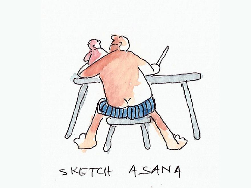 "Sketch ""Asana"""