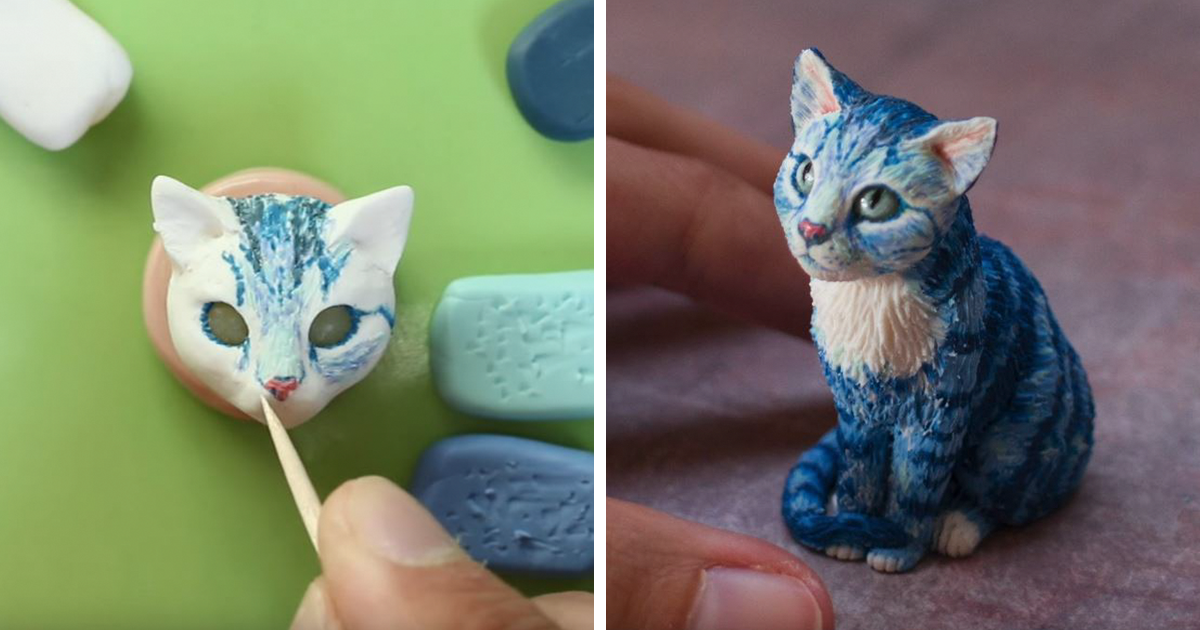 A Cat Made Of Clay