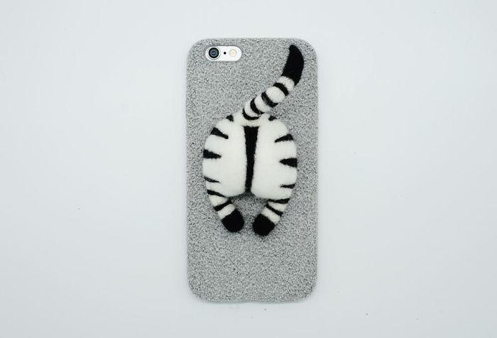 Needle Felted Zebra Butt Phone Case