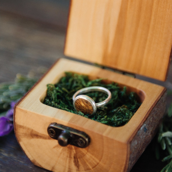 Natural Ring Boxes Made From Fallen Branches