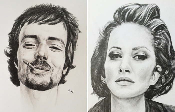I Drew The Portraits Of Some Of My Favorite Celebrities