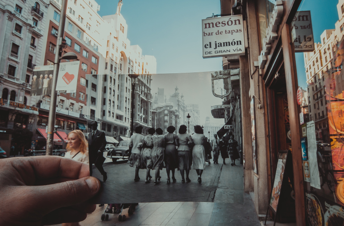 I Inserted Old Photos Into Popular Destinations During My Travels