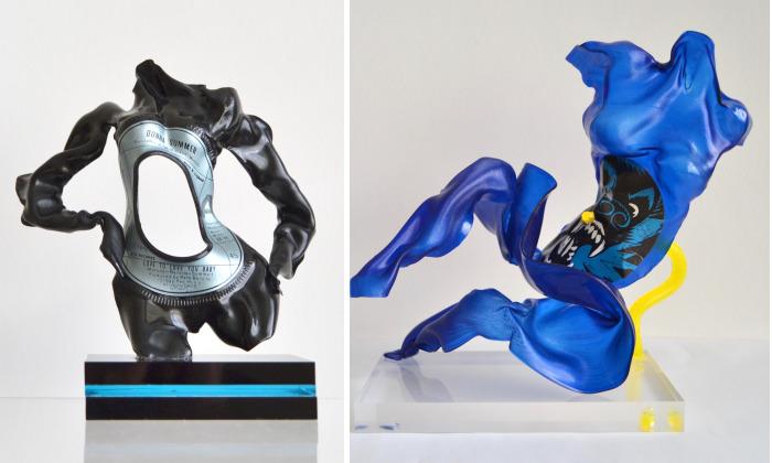 I Make Figurative Sculptures From Vinyl Records