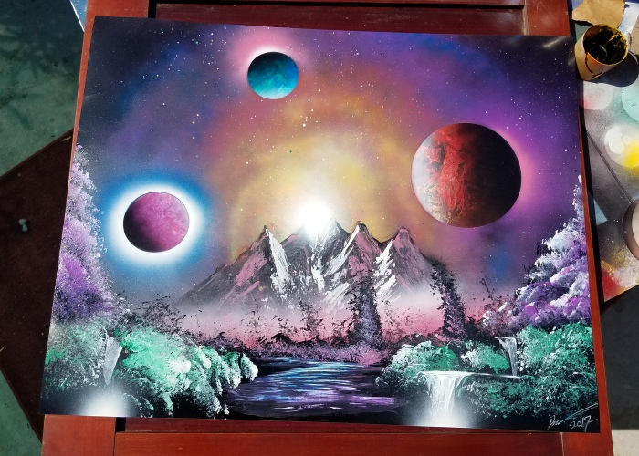 I Create These Artworks Using Spray Paint