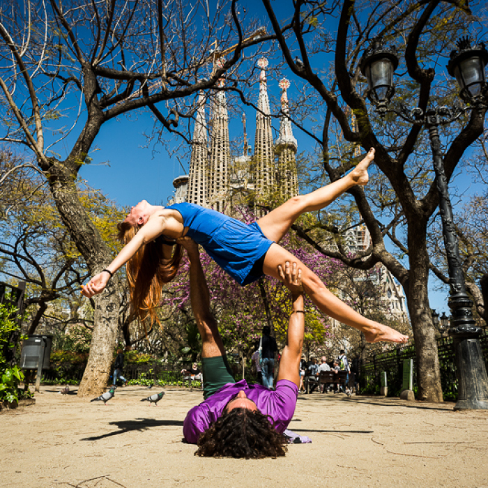 Mixing Body Art And Photography While Doing Yoga In Barcelona