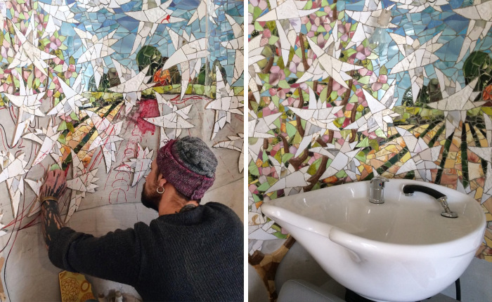 Mosaic Window Wonderland That I Created In Beauty Salon