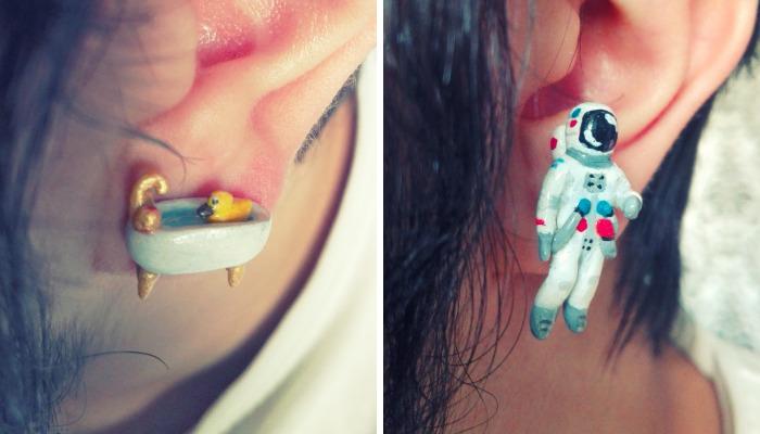 I Create Cute, Nerdy, Weird And Creepy Earrings