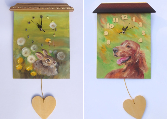 I Put All My Heart Into Painting On Clocks