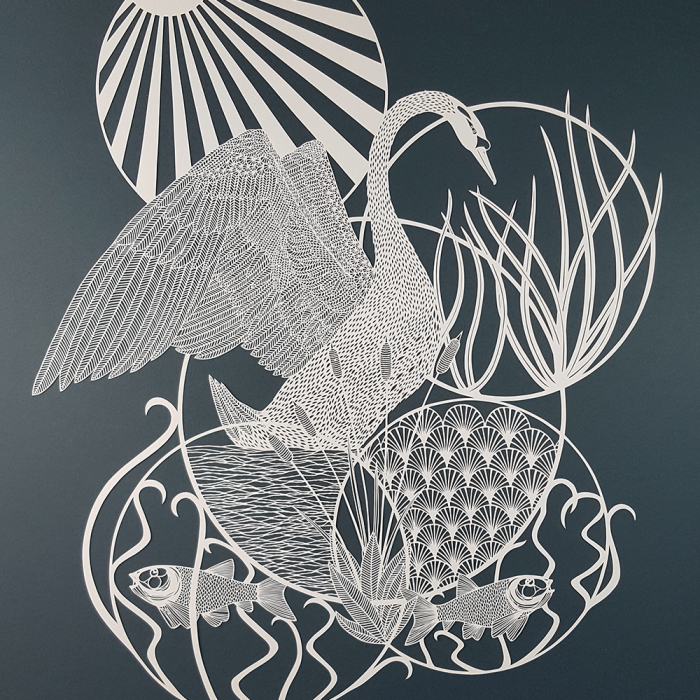 I Created A Paper Cut Artwork Depicting Some Of The Wildlife Found Around The Waterways Of Britain