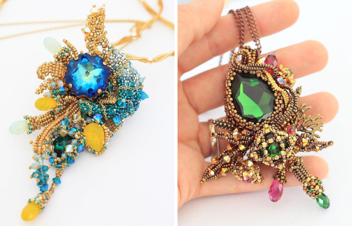 Gorgeous Seed Bead Webs: 10+ Amazing Jewelries By Apollinariya Koprivnik
