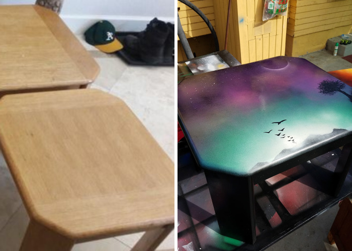 3 Piece Table Set Given New Life