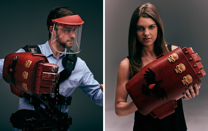 Crazy Geeks Make Video Game Weapon In Real Life