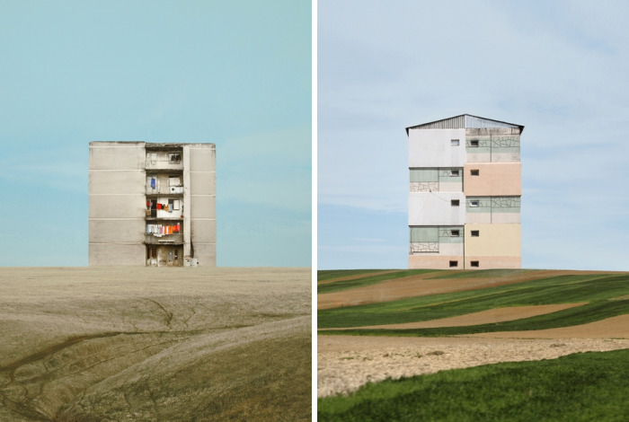 I Made Surreal Collages Featuring Home Architecture In Romania