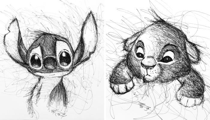 He garabateado a mis personajes de animación favoritos