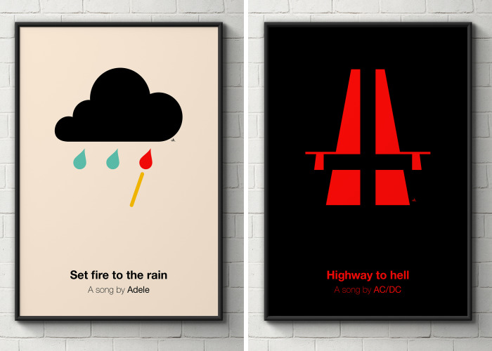 I Made Pictogram Posters For Songs