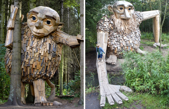 I Hide Giants That I Make From Wood In The Wilderness Of Copenhagen