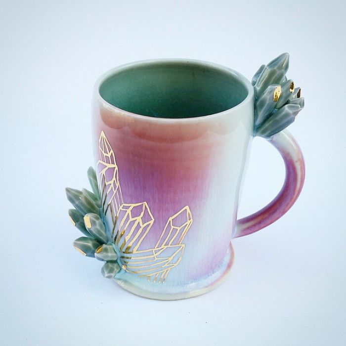Self Taught Artist Makes Dazzling Coffee Mugs Which Belong
