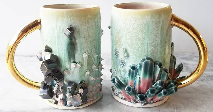 Self Taught Artist Makes Dazzling Coffee Mugs Which Belong In Art Galleries