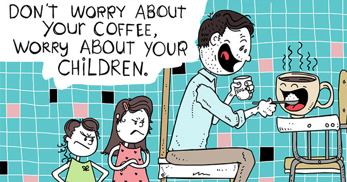 Dad Turns His 5-Year-Old Daughter's Sayings Into Fun Illustrations, And They Will Make Your Day