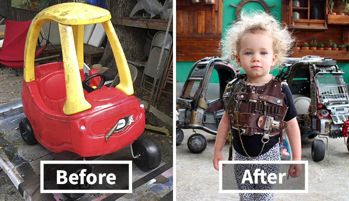 "Dad Turns Kids' Toy Cars Into Badass ""Mad Max"" Vehicles"