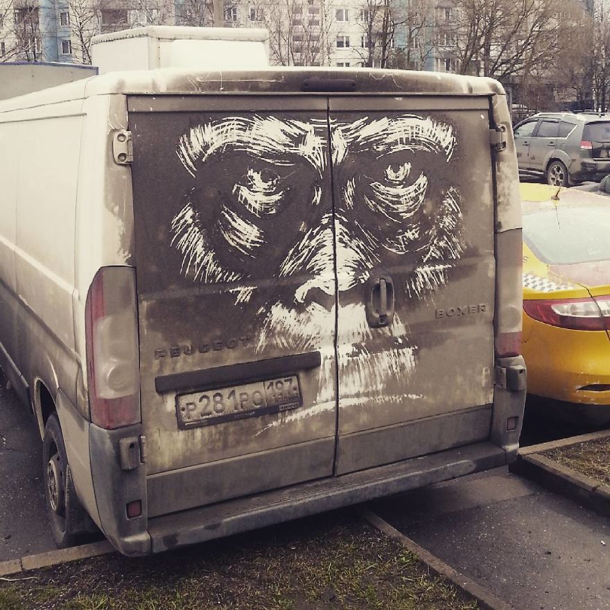 """Dirty Car Owners Find Their Cars """"Vandalized"""" With Amazing Drawings, And Your Car May Be Next!"""