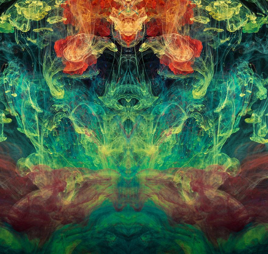 I Used Inks, Dyes, And Paints In Water To Create Surreal Images