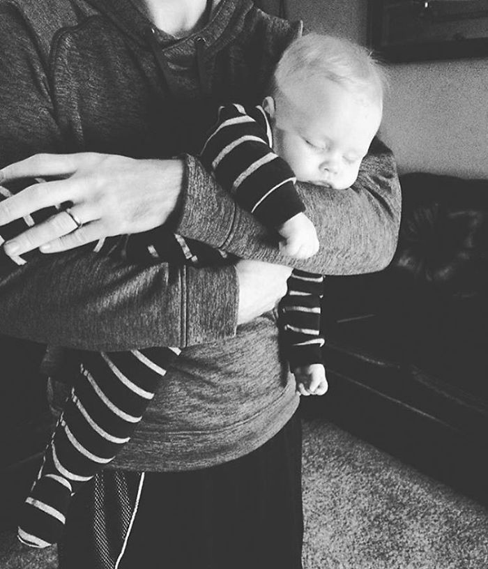 When Dad's Arms Feel Like Best And Most Secure Place To Fall Asleep