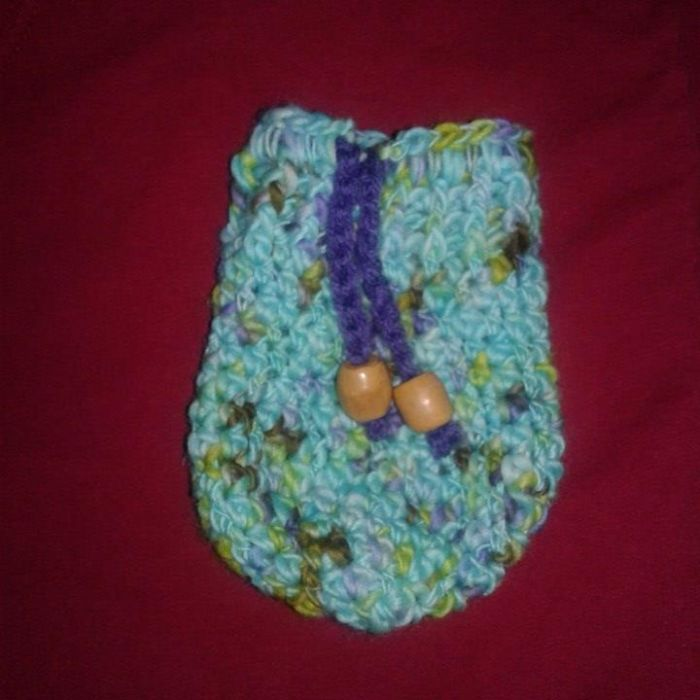 Crocheted Ear Bud Pouches Great Easter Gift Idea!!
