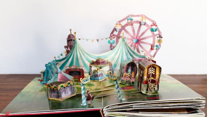 A Pop-Up Book Of A Vintage Circus