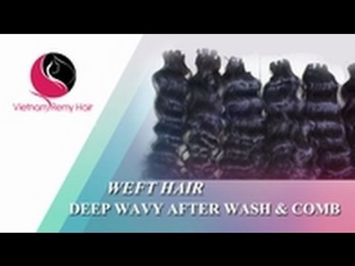 Vietnam Remy Hair| Weft Deep Wavy Hair After Wash & Comb