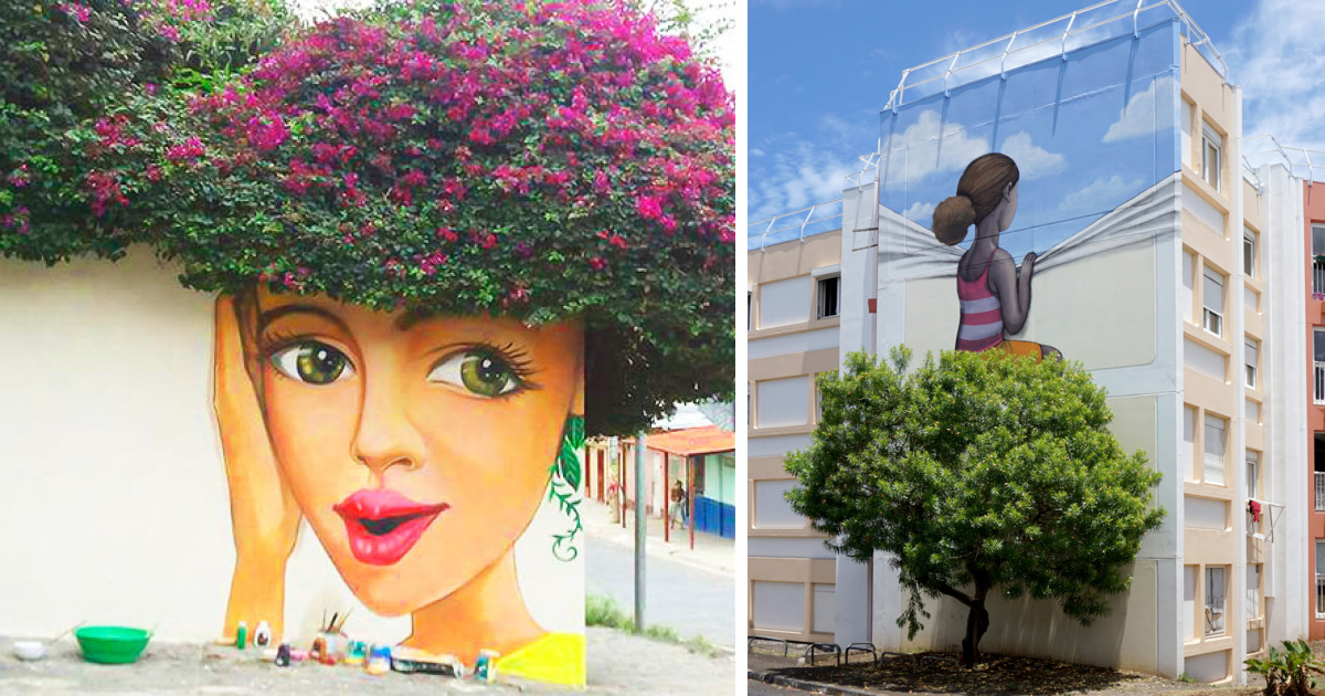 71 Amazing Street Art Installations That Cleverly Interact With Nature