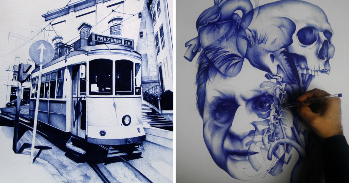 Ballpoint Pen Drawings That Take Me Up To 100 Hours To
