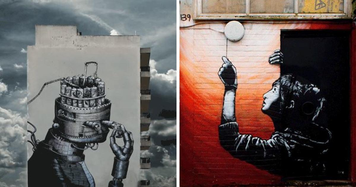 Spanish Photographer A.l. Crego Turns Street Art Graffiti Into Animated Gifs